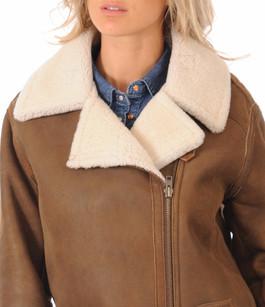 Veste Femme Mouton Coupe Loose Peau d'Âne