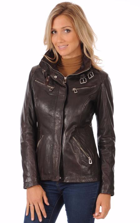 Blouson et veste cuir pour femme La Canadienne, Oakwood, Rose Garden ... abc5ff24a9b8