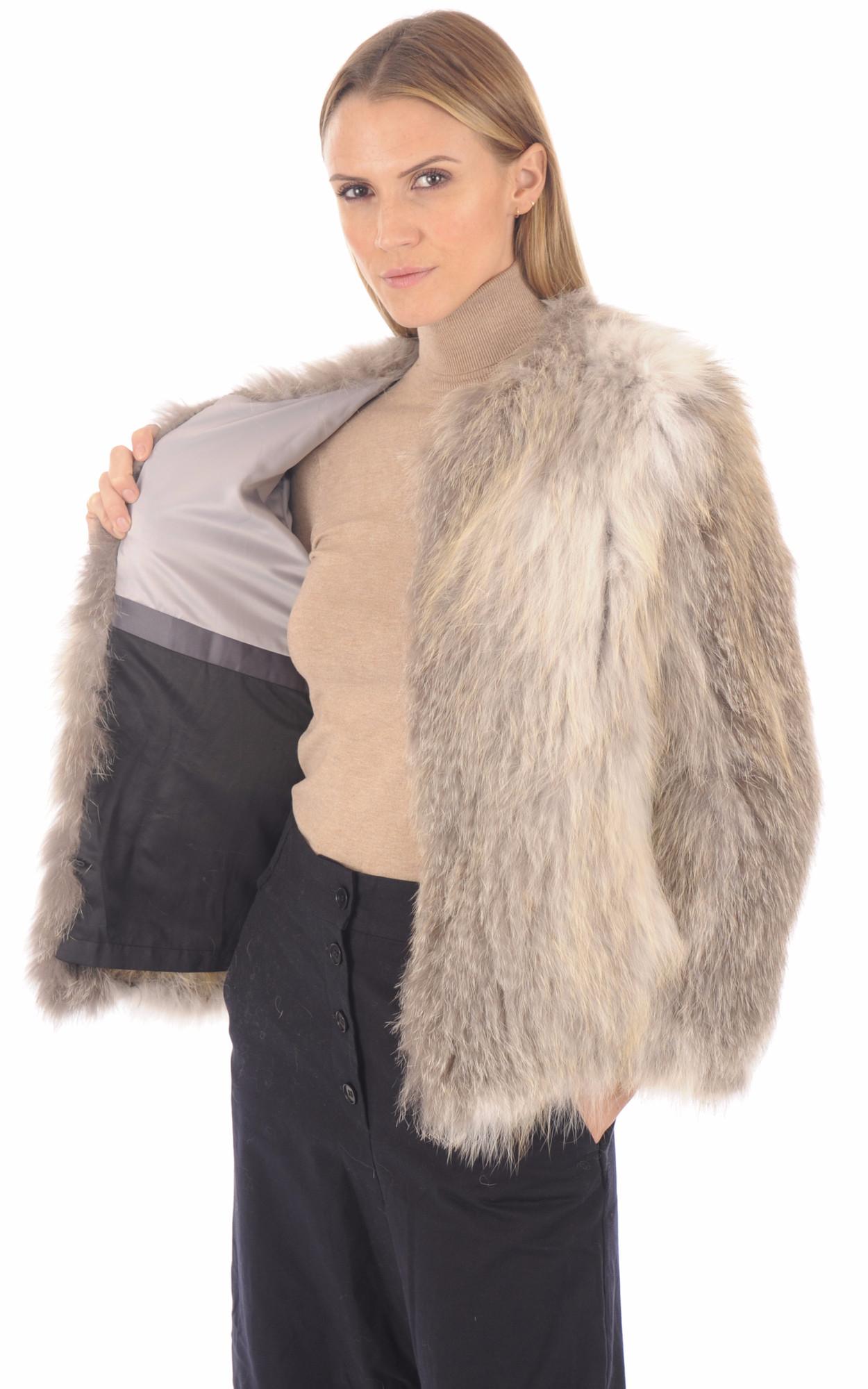 Veste fourrure femme blanche