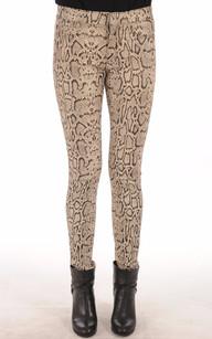 Pantalon Stretch Imprimé Python Femme1
