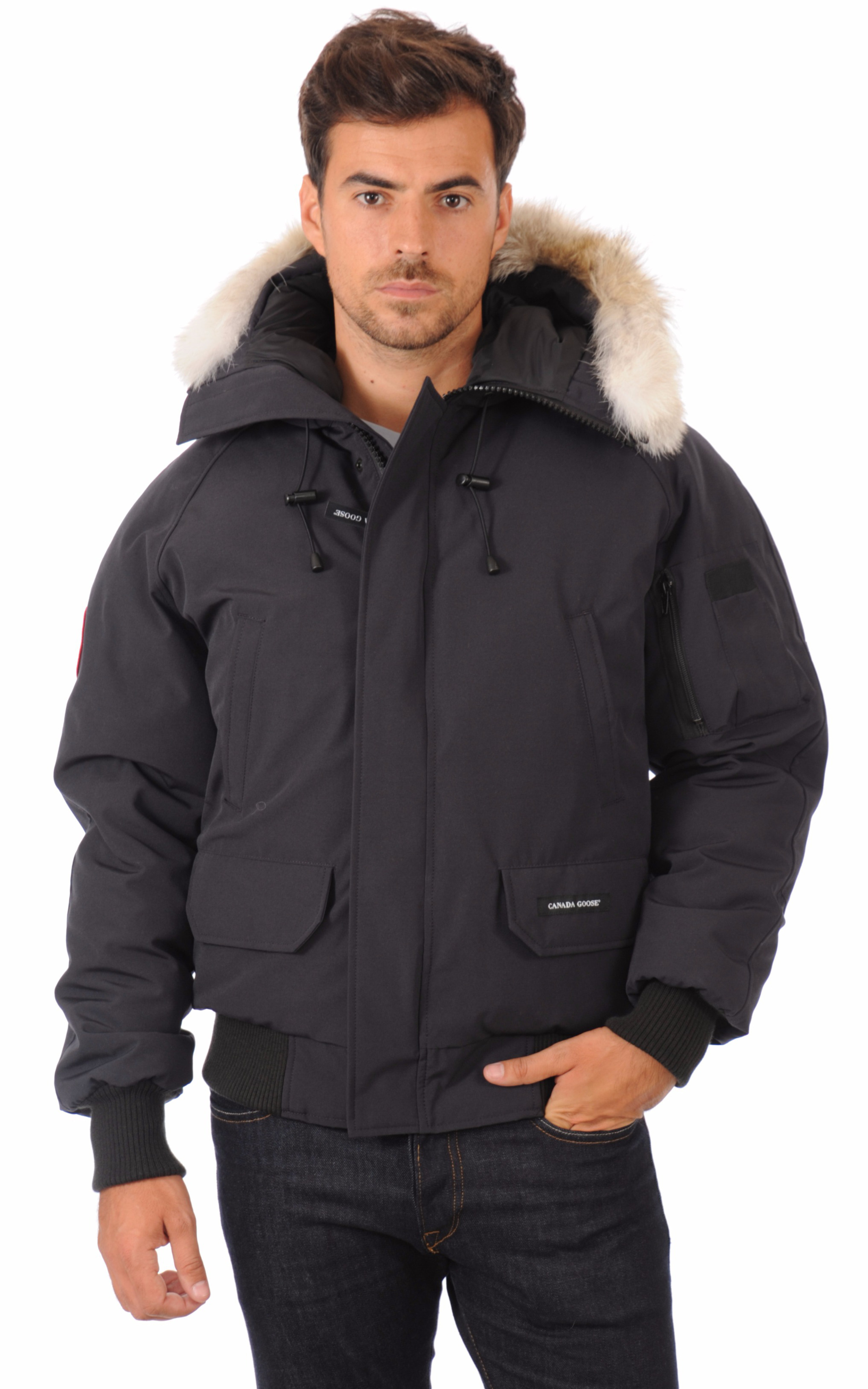 blouson chilliwack navy homme canada goose la canadienne doudoune parka textile navy. Black Bedroom Furniture Sets. Home Design Ideas