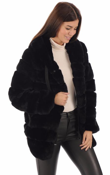 grossiste 49366 b9fc5 Manteau fourrure & veste et blouson - renard, vison, lapin ...