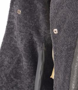 Veste Kimono Réversible Mouton Gris Suprema