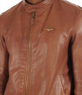 Blouson Cuir Cognac Homme Aeronautica Militare
