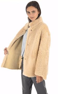 Veste peau lainée réversible
