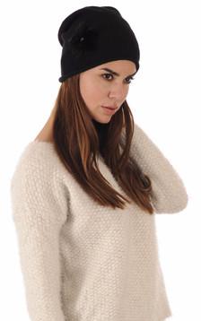 Bonnet Noir Laine & Vison1