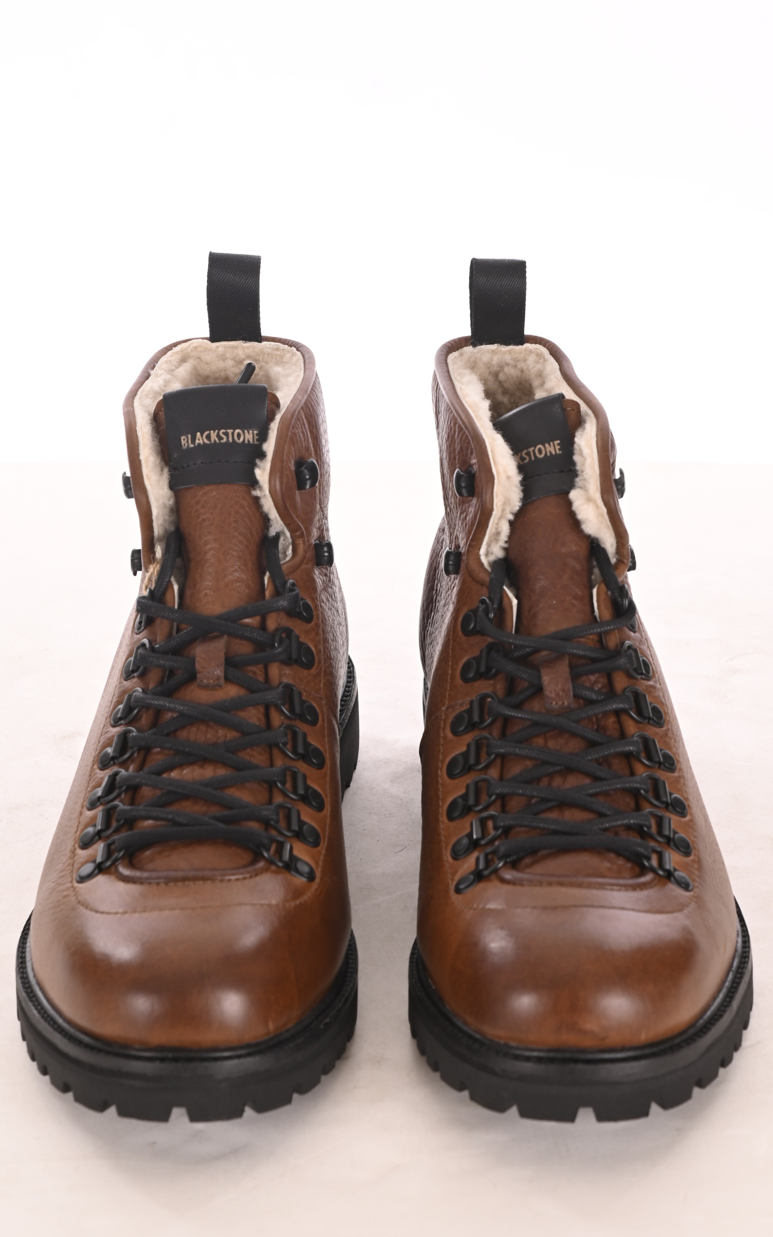 Boots montantes fourrées camel Blackstone