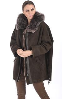 Veste esprit cape en laine d'agneau de Toscane