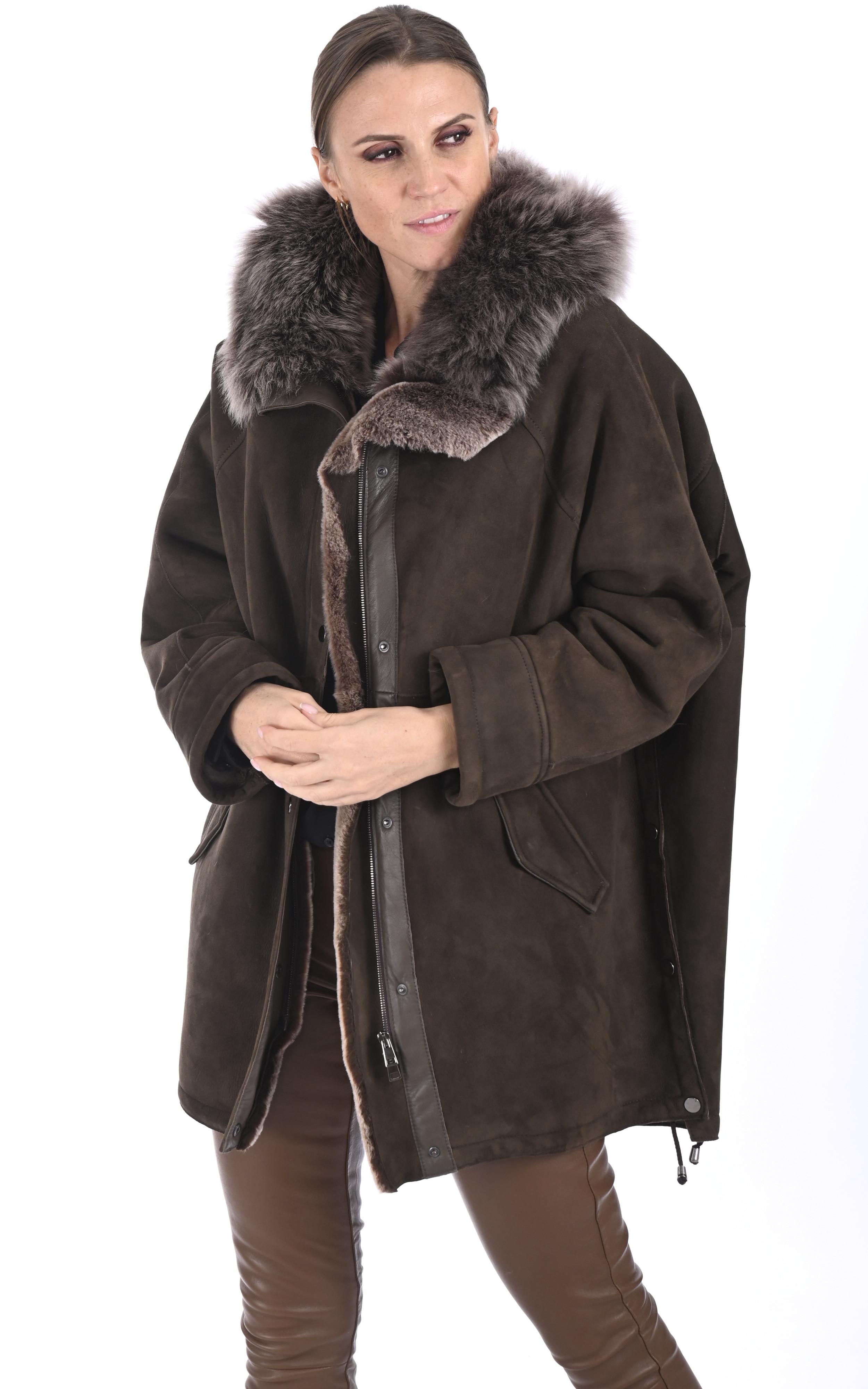 Veste esprit cape agneau de Toscane Artico