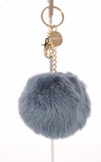 Porte-clé lapin bleu acier