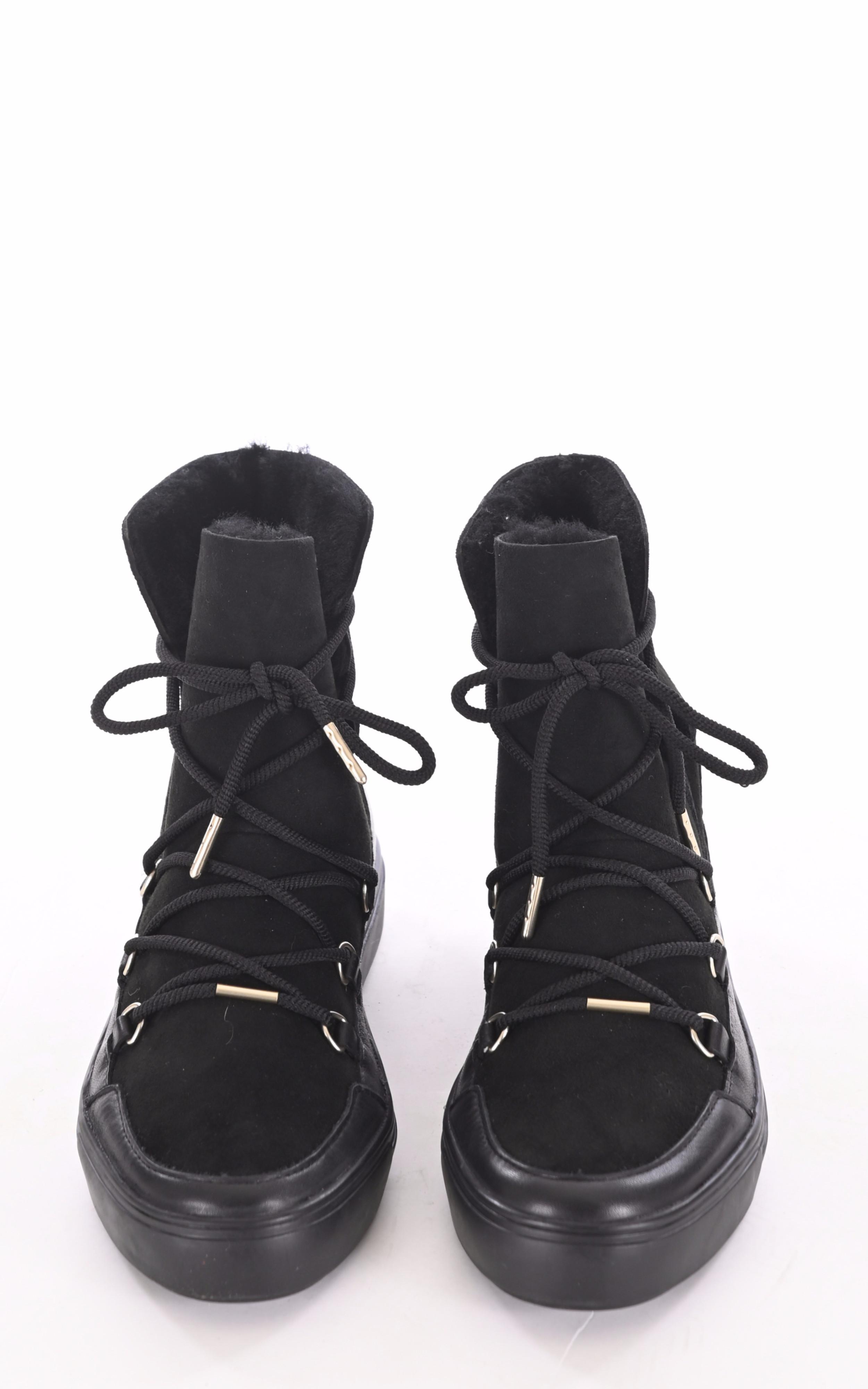Boots mouton velours noir Blackstone