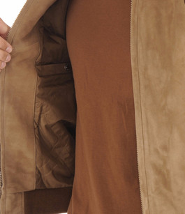 Teddy LC3017 Cuir Velours beige foncé Schott
