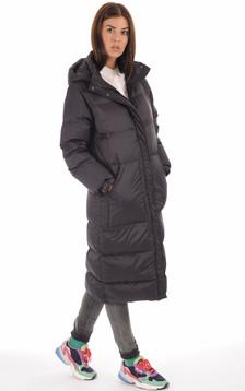 Doudoune longue Alix noire femme1