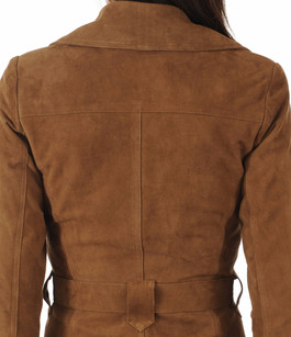 Trench Cuir Velours Tabac La Canadienne