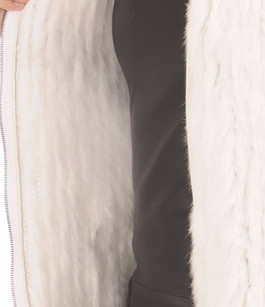Gilet Blanc Fourrure Lapin Oakwood