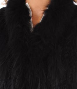 Gilet Fourrure Lapin Noir Oakwood