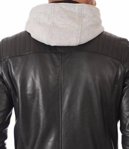 Blouson Cuir Noir Alpha Hood Daytona 73