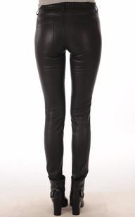 Pantalon Cuir Stretch Noir