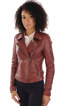 Blouson City Girl rouge1