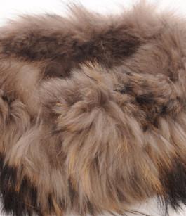 Col en Fourrure de Raccoon Beige Femme Oakwood
