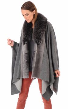 Cape tri matière renard gris