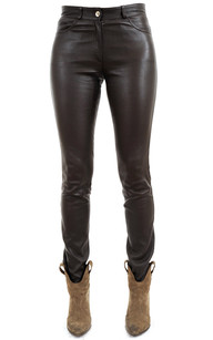 Pantalon Cuir Slim Stretch1