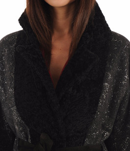 Veste Kimono Réversible Mouton Noir Suprema