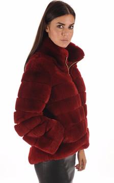 Veste Fourrure Rouge de Rex1