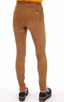 Pantalon Cuir Chèvre Stretch Cognac