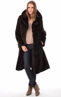 Manteau en Vison pleine Peau