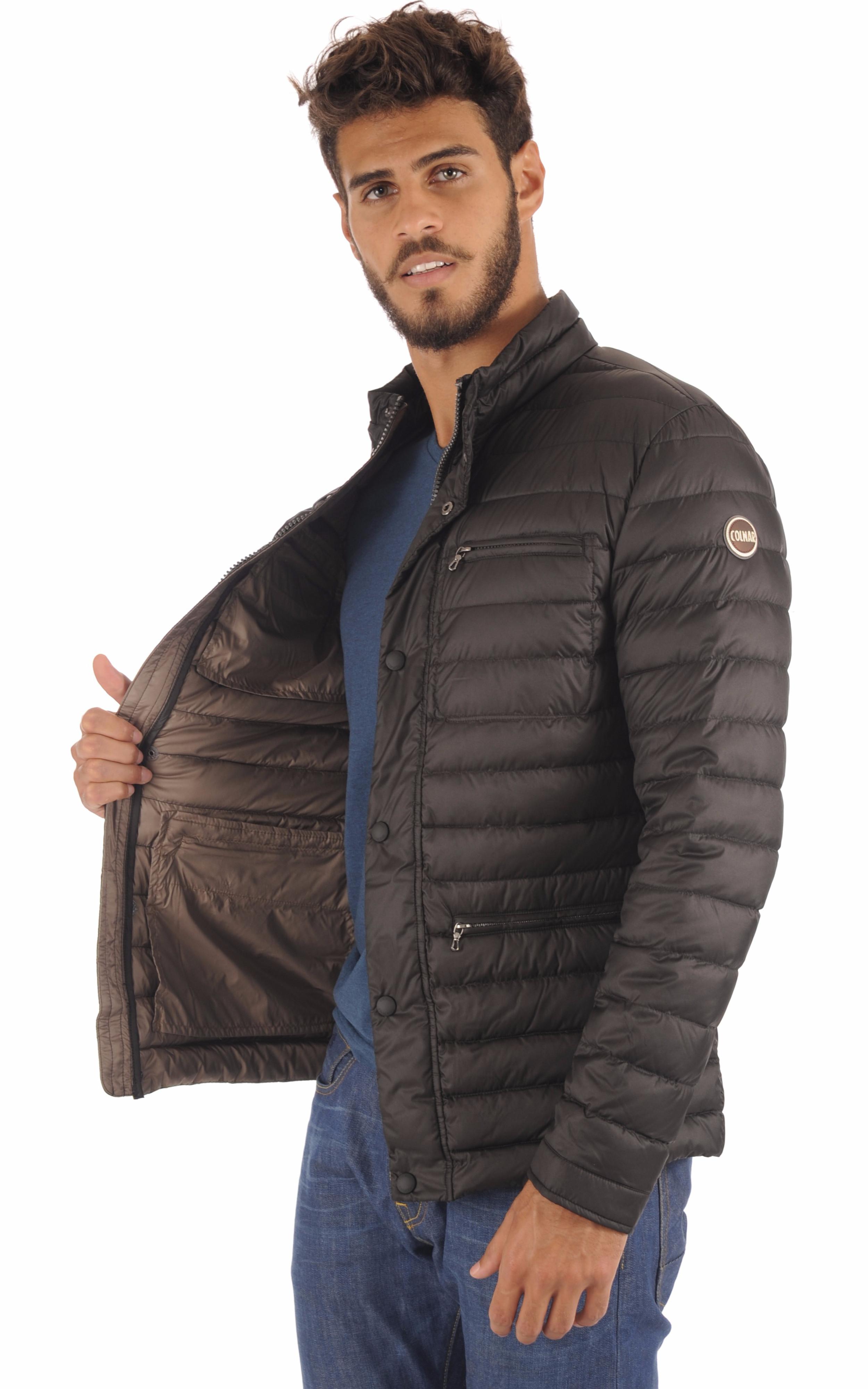 Doudoune Textile Noire Homme Colmar