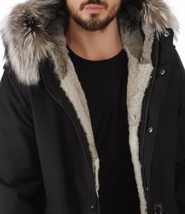 Parka Moritz-X laine feutrée noir Mackage