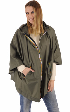 K-Way - Cape imperméable Morgane kaki1