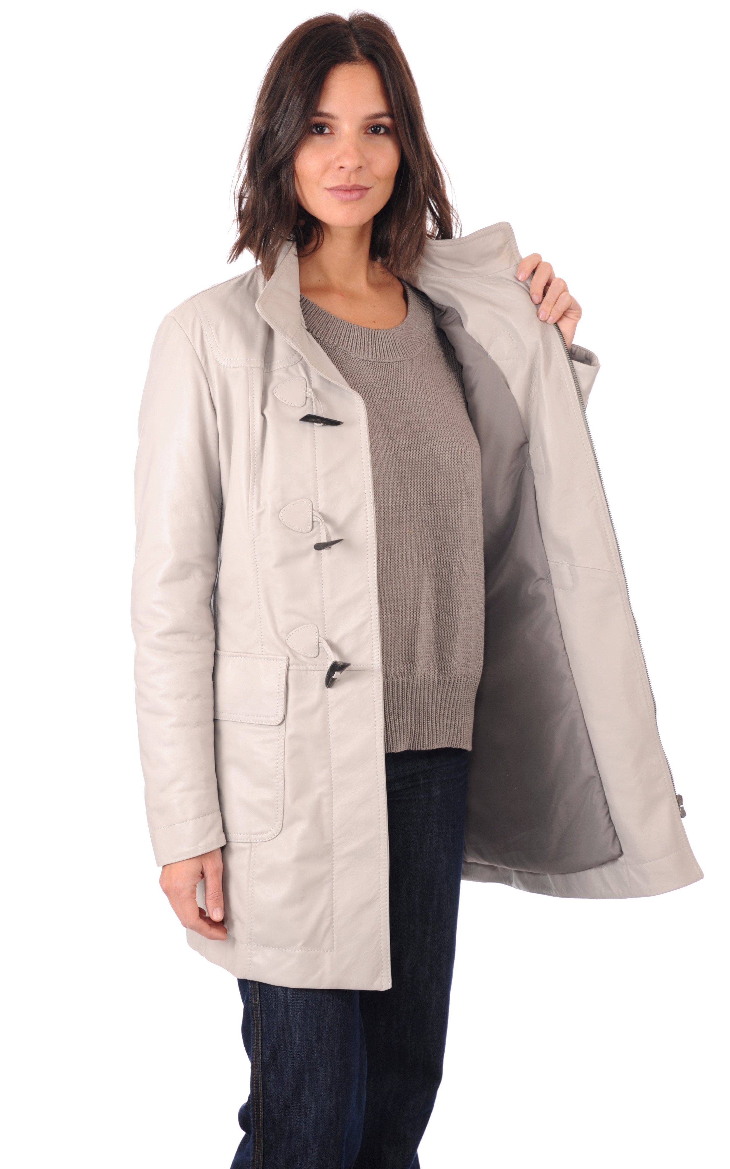 Duffle Coat Cuir Chaud Femme La Canadienne
