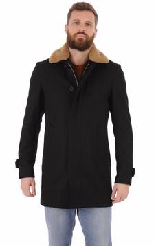 Manteau laine Maverick noir1