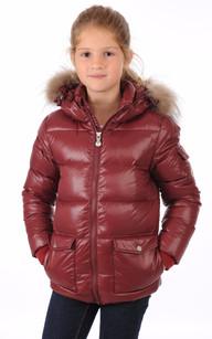 Doudoune Authentic Jacket Bordeaux Fille1