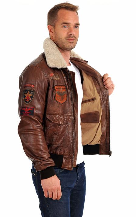 le dernier d81c9 3682a Blouson cuir aviateur pour homme | La Canadienne
