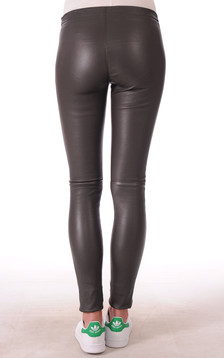 Pantalon Cuir Asteroid Marron