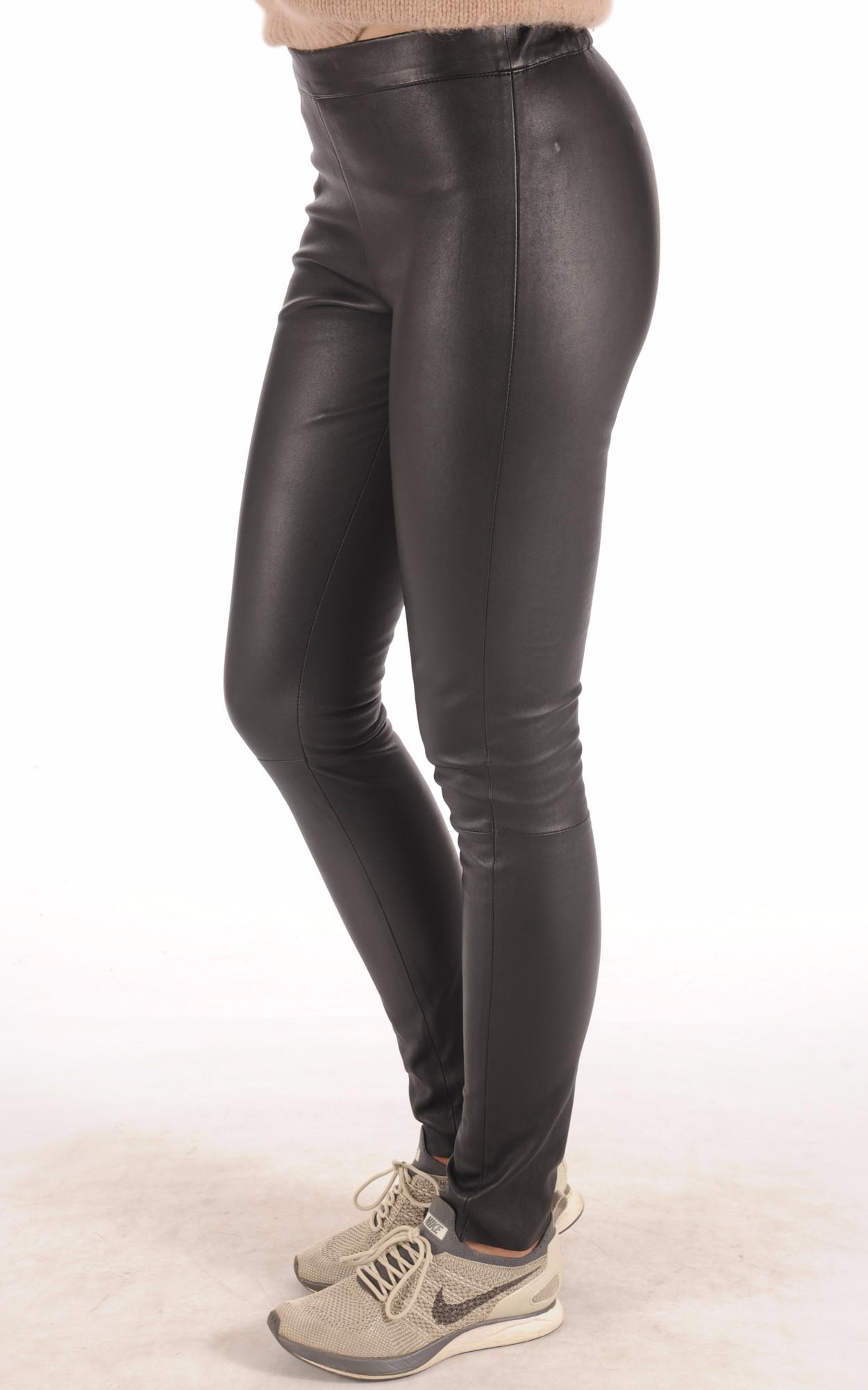 Legging Cuir Stretch Noir La Canadienne
