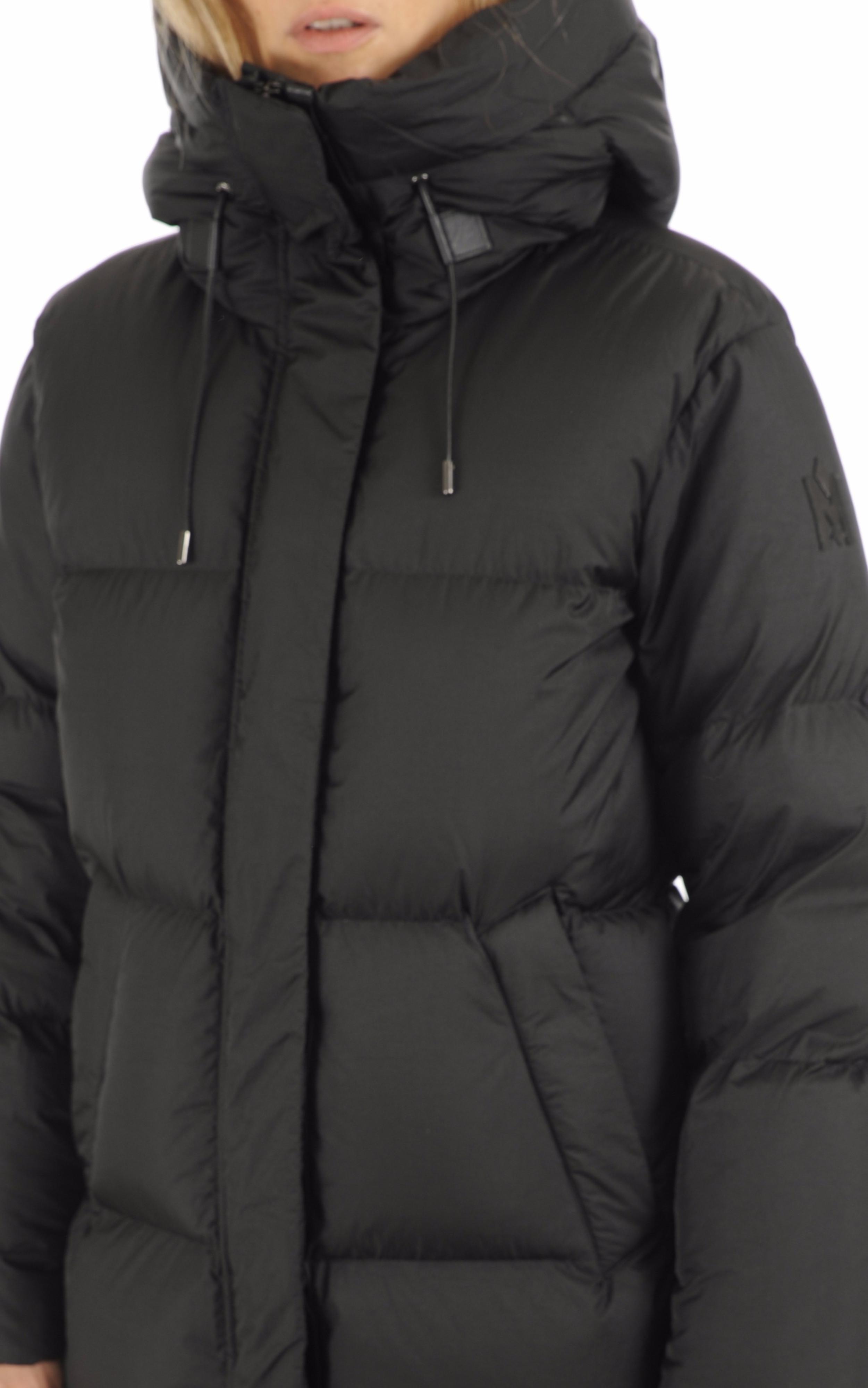 Doudoune longue Eliane noire Mackage