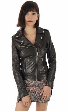La Canadienne - Blouson cuir noir femme1