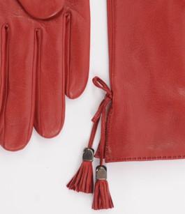Gants  Fins Cuir Rouge Femme Georges Morand