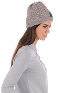 Bonnet Laine gris chiné1