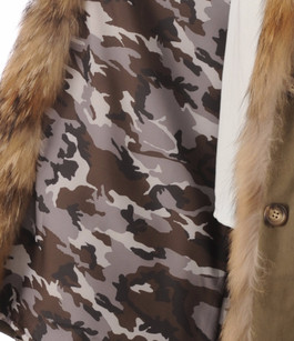 Paletot Army Coton et Raccoon Artico