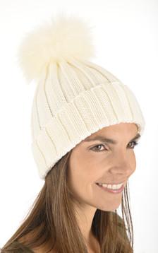Bonnet en laine blanc