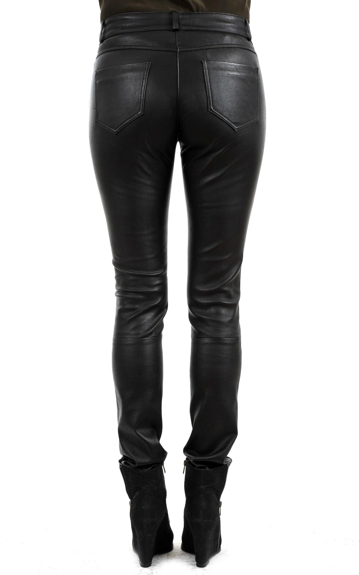 Pantalon Slim Cuir Stretch