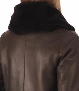 Veste Peau Lainée Mérinos Noir La Canadienne