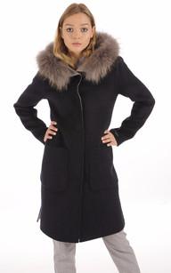 Manteau Réversible gris et bleu nuit1
