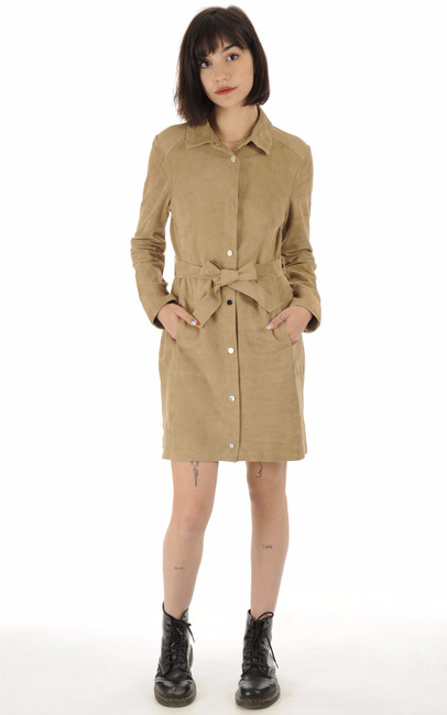 Robe chèvre velours beige Oakwood
