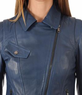 Blouson en cuir Lovely bleu Giorgio